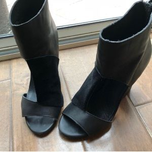 M.I.A limited edition leather suede black booties